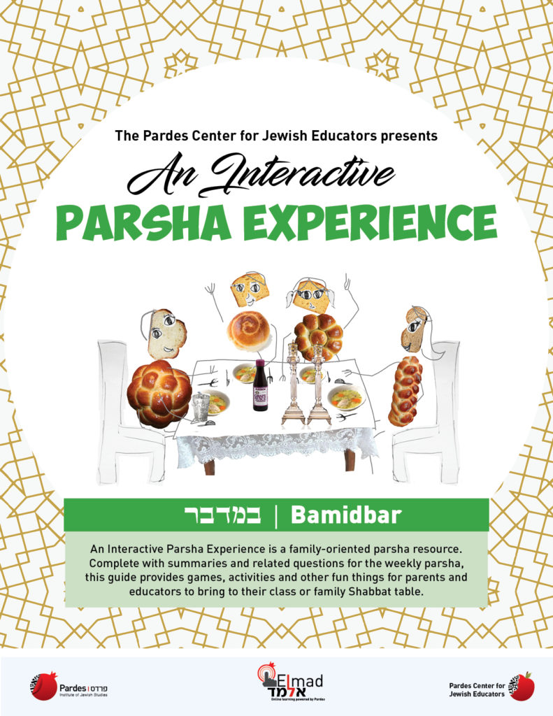 an interactive parsha experience: bamidbar