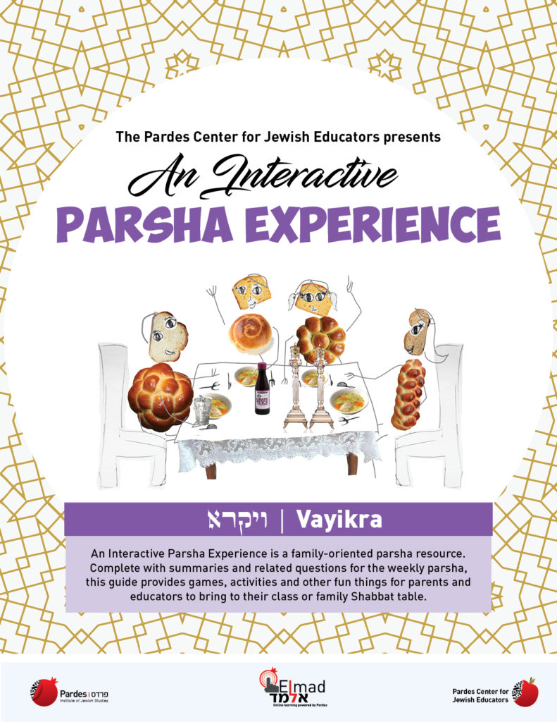 an interactive parsha experience: vayikra